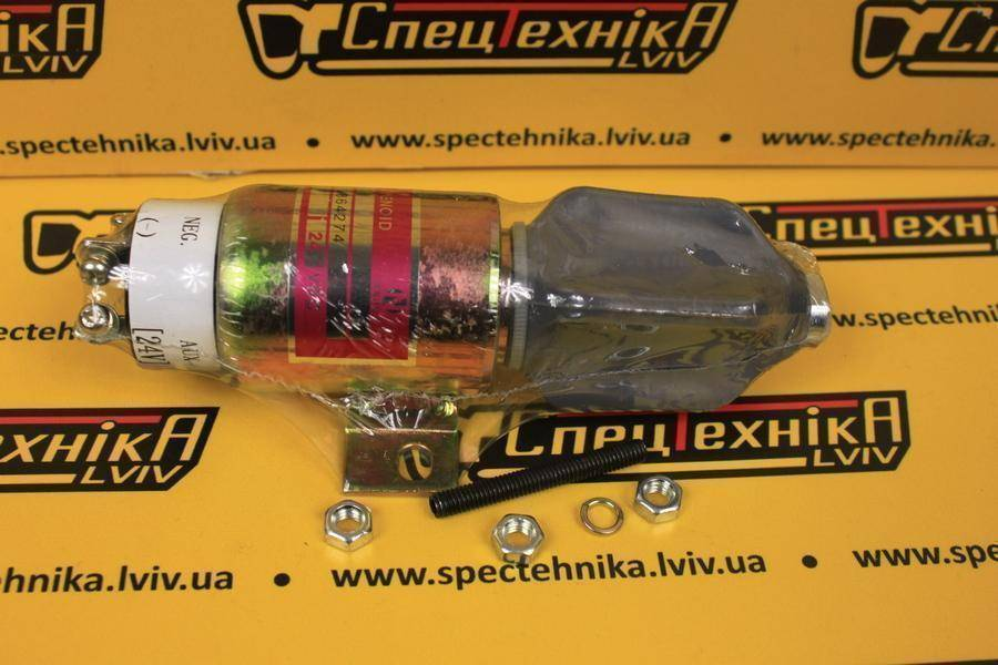 Электромагнитный клапан (Соленоид) глушилка Cummins 24V QSB5.9 6BT5.9 (3864274) (1751-2467UIBIS5) (5270496) (34287-01300)