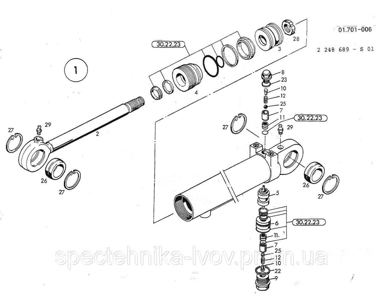 1462685 Ремкомплект гидроцилиндра O&K (Orenstein & Koppel) MH Plus