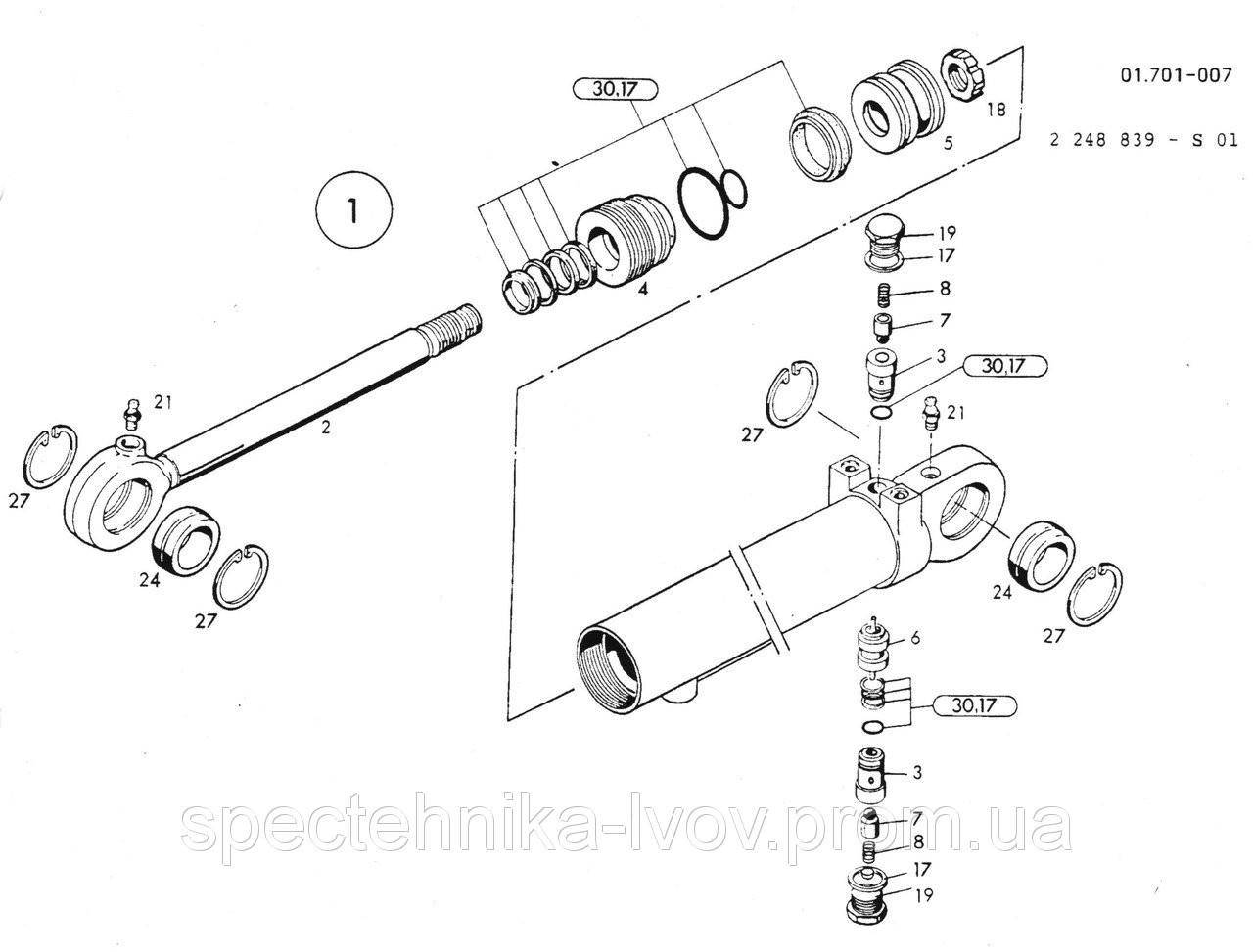1462679 Ремкомплект гидроцилиндра O&K (Orenstein & Koppel) MH 6