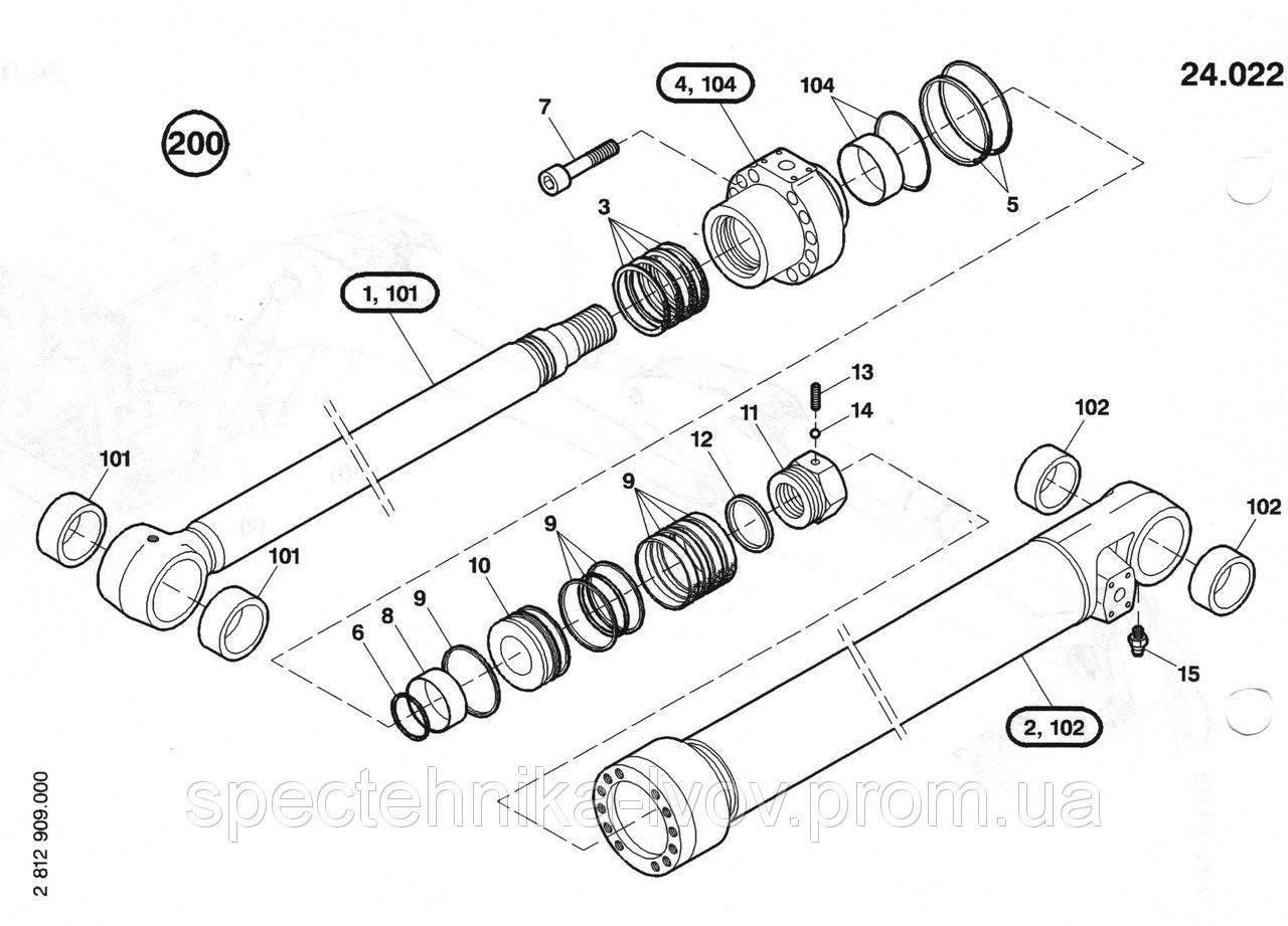 1484624 Ремкомплект гидроцилиндра подъема стрелы O&K (Orenstein & Koppel) RH6.5