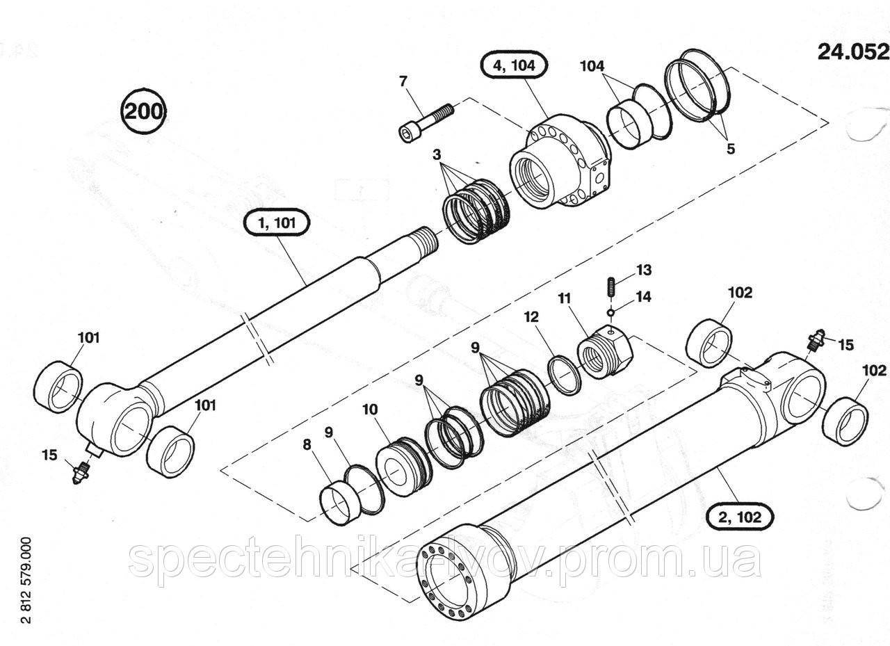 1484656 Ремкомплект гидроцилиндра рукояти O&K (Orenstein & Koppel) RH6.5