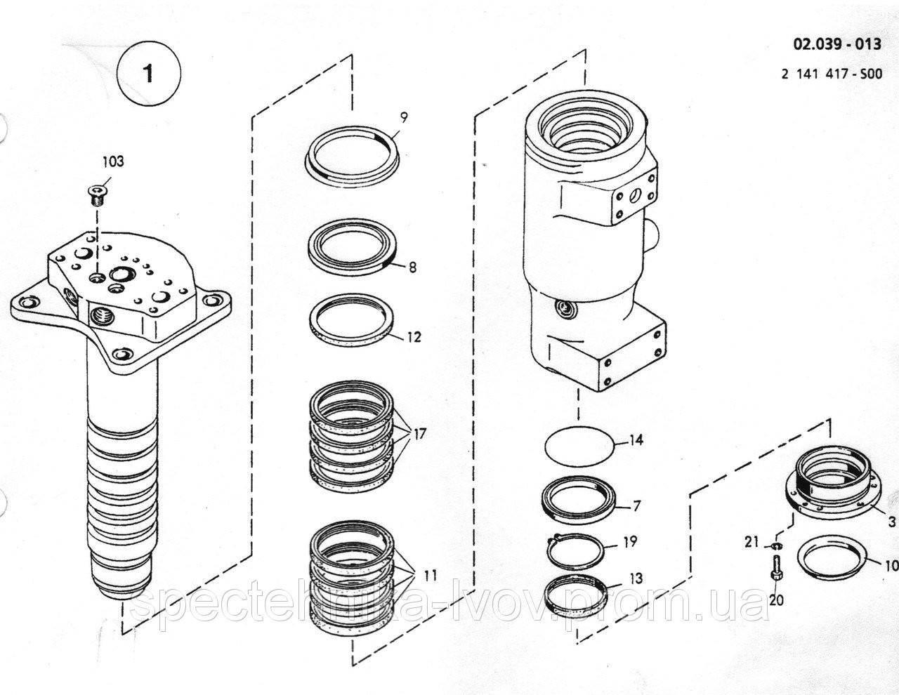 0941392 Ремкомплект поворотной колоны O&K (Orenstein & Koppel) MH CITY