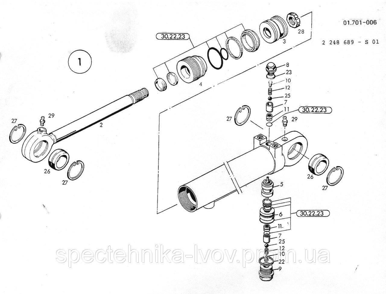 1462685 Ремкомплект гидроцилиндра O&K (Orenstein & Koppel) MH CITY