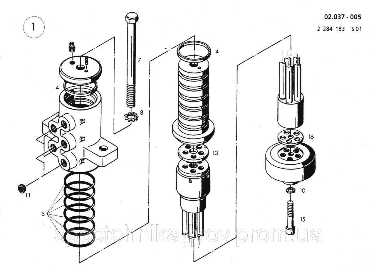 1432866 Ремкомплект поворотной колоны O&K (Orenstein & Koppel) MH 6