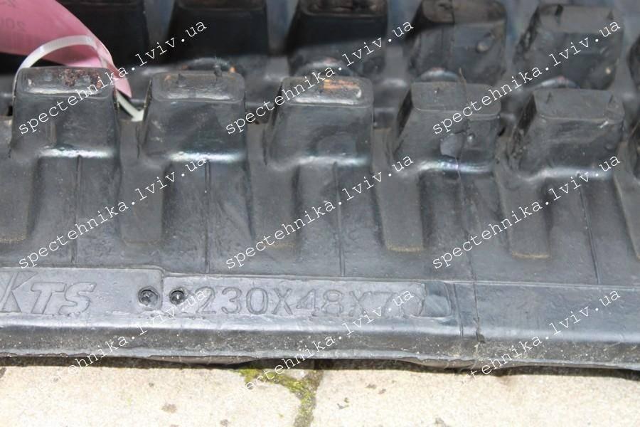 Резиновая гусеница 230x48x70HD для мини экскаватора
