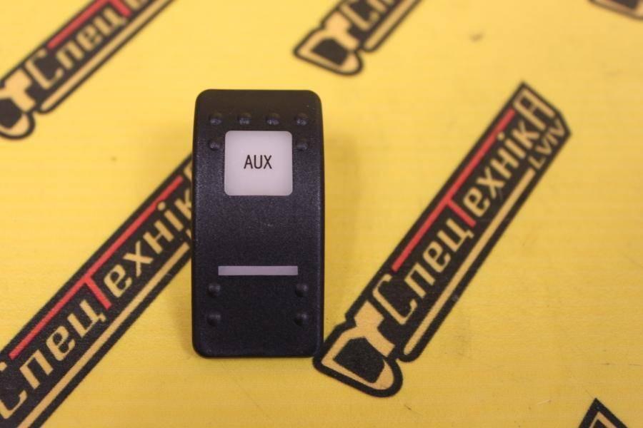 Накладка/колпачок переключателя AUX чорная JCB (701/58833, 701-58833)