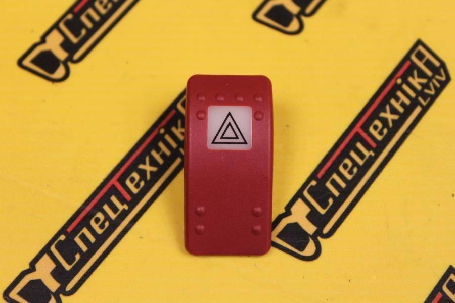 Крышка кнопка клавиша переключателя аварийного сигнала JCB (701/58821, 701-58821, 70158821)