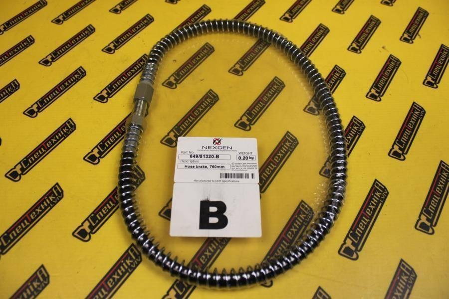 Тормозной шланг 760 мм JCB 3CX, 4CX (649/51320, 649-51320, 64951320) - Nexgen