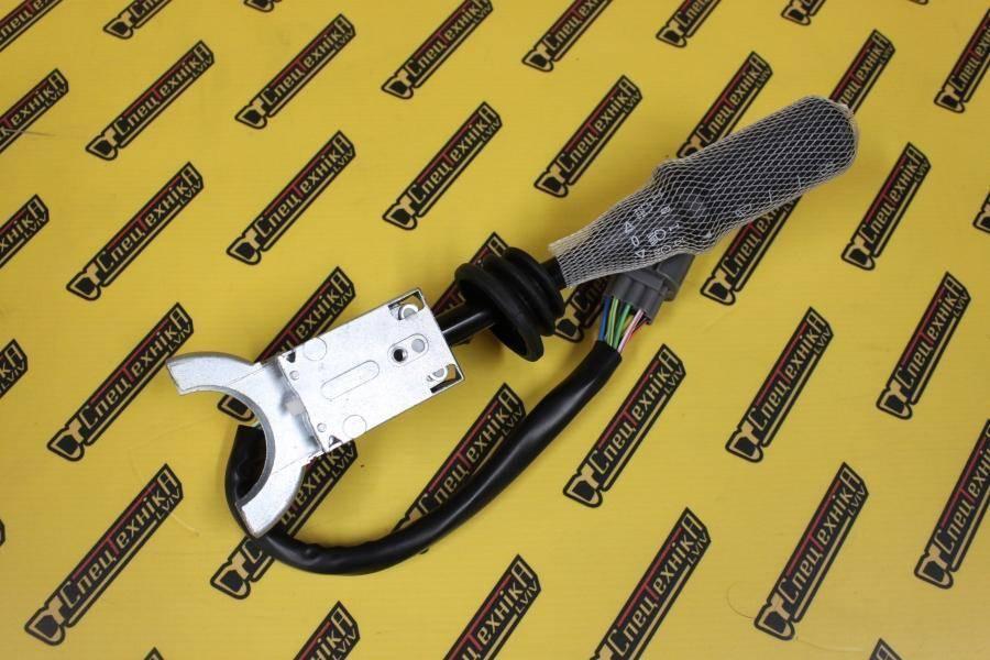Подрулевой переключатель поворотов/щетки JCB 3CX, 4CX от 2001 черный (701/80297, 701-80297, 70180297) - ZAM
