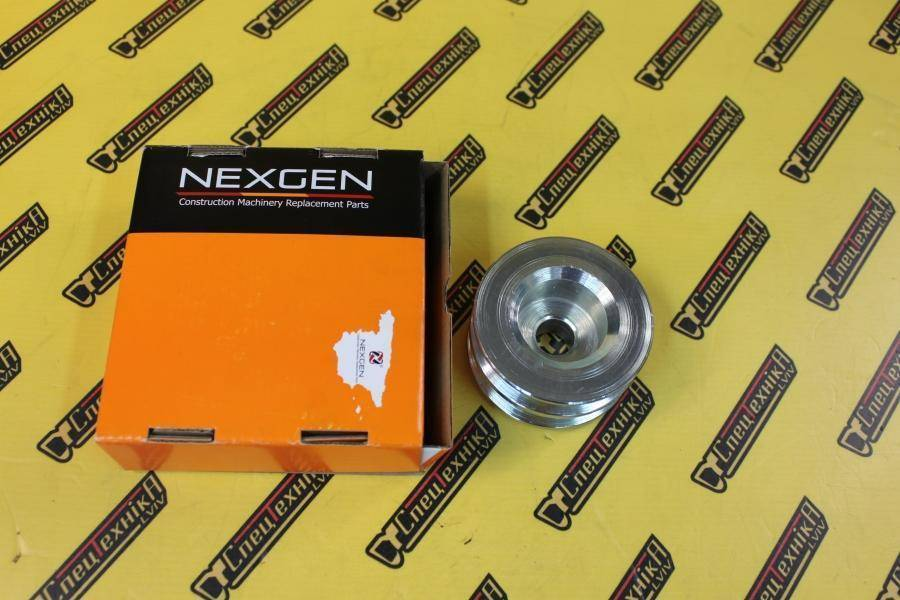 Шкив генератора JCB 3CX, 4CX 70 мм двухручейный (123/04736, 123-04736, 12304736) - Nexgen