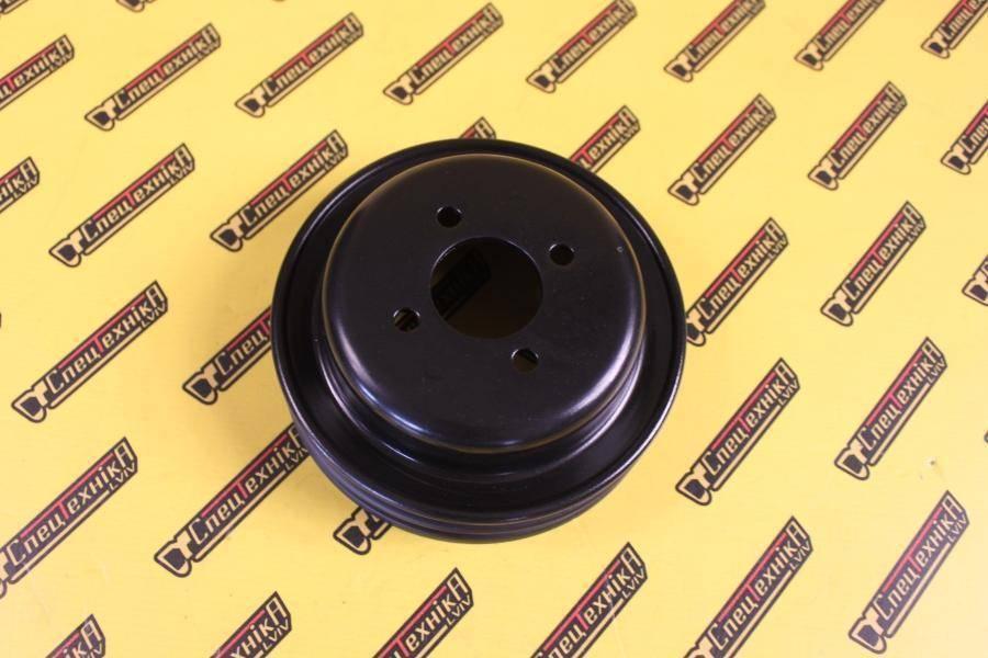 Шкив вентилятора JCB 3CX, 4CX 165 мм двухручейный (02/201328, 02-201328, 02201328)