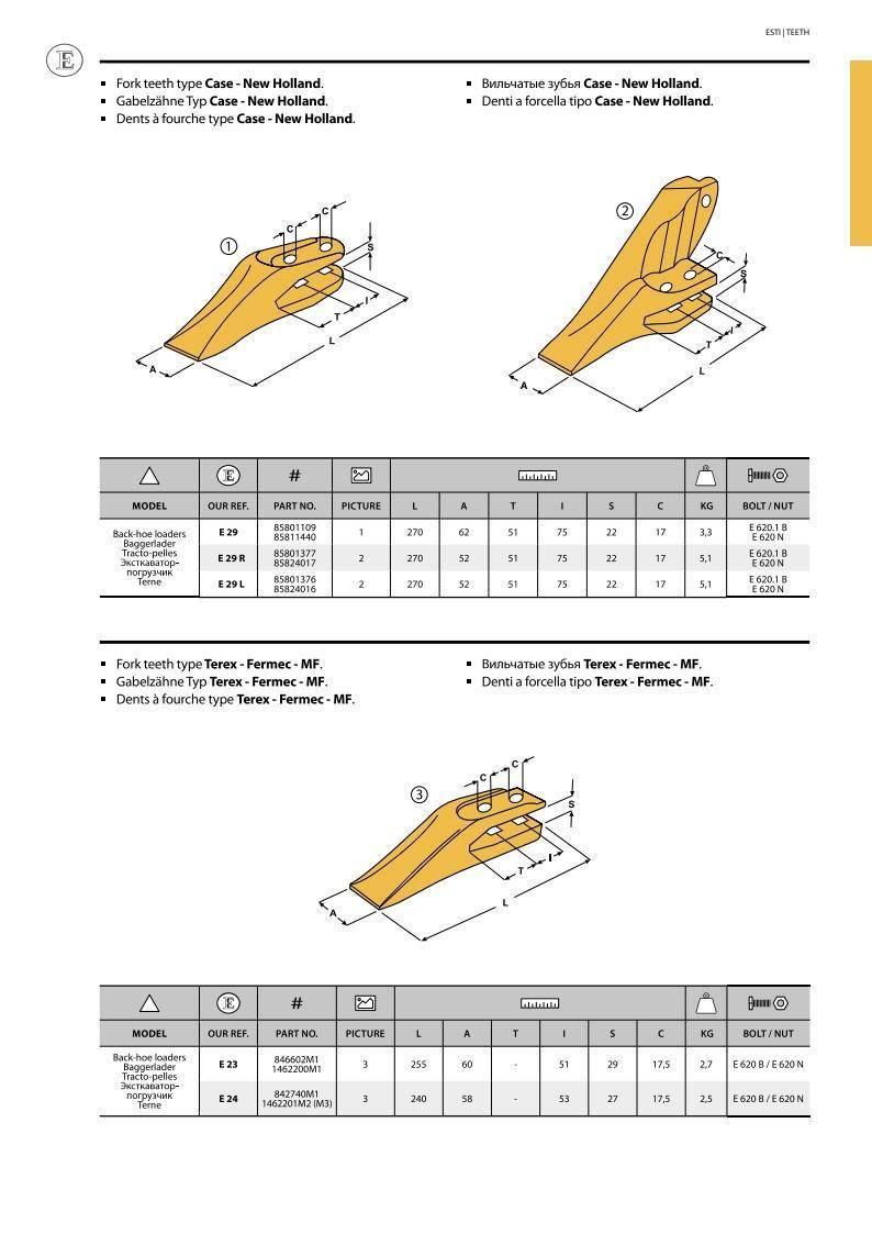 Зуб ковша New Holland/CAT/Fiat скальный боковой левый