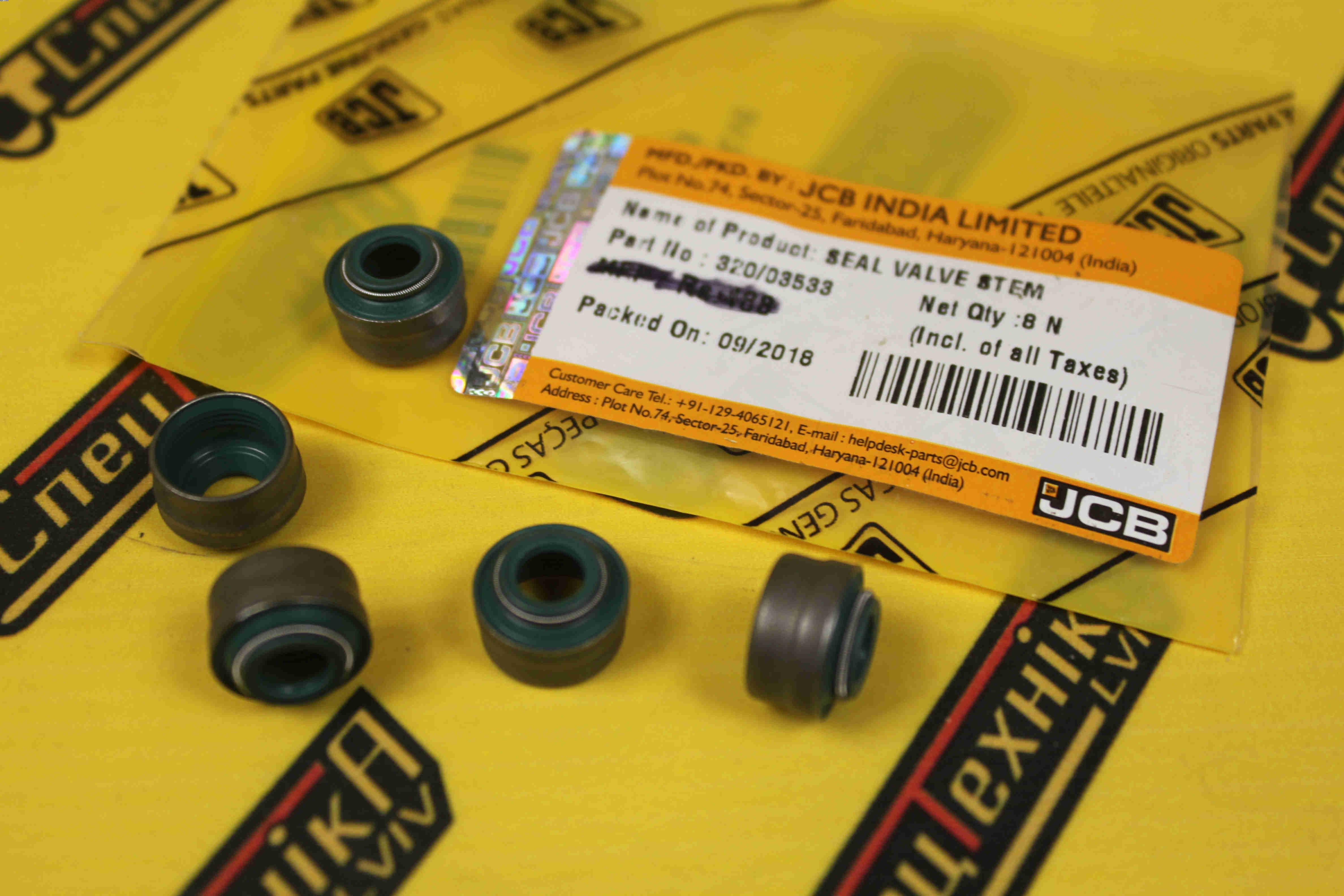 Маслосъёмный колпачок, сальник штока клапана JCB DieselMax 14,5/13,5*7*9 (320/03533, 320-03533, 32003533)