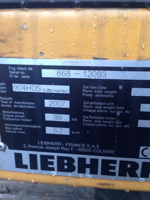 Фото №33 - Гусеничный экскаватор Liebherr R 904С HDS Litronic 2007 г.