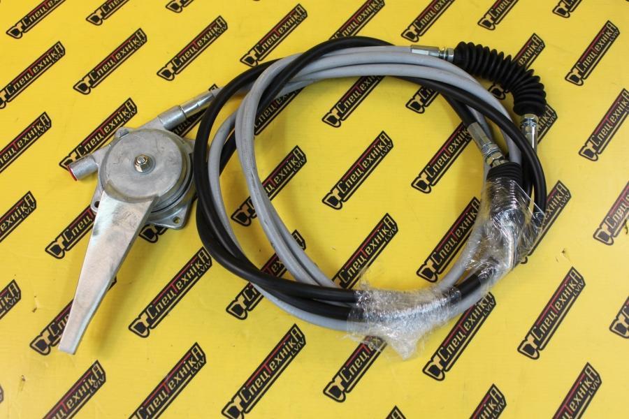 Трос газа с ручкой Perkins LD, LJ, LH JCB 3CX, 4CX (910/43500, 910-43500, 91043500)